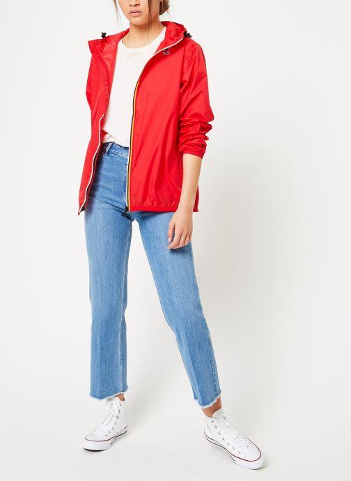 Vêtements K-Way  LE VRAI 3.0 CLAUDE Rouge vue bas / vue portée sac