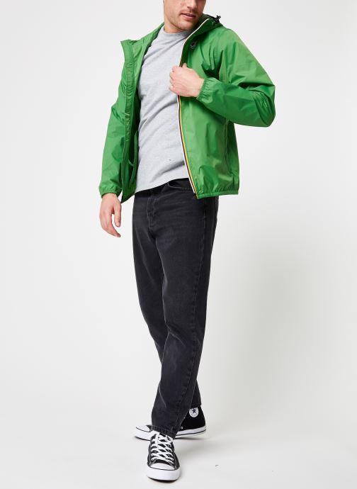Vêtements K-Way  LE VRAI 3.0 CLAUDE Vert vue bas / vue portée sac