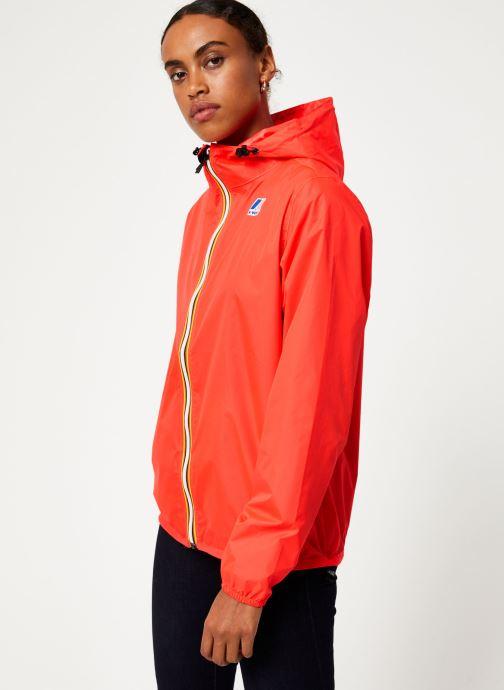 Vêtements K-Way  LE VRAI 3.0 CLAUDE Rouge vue droite