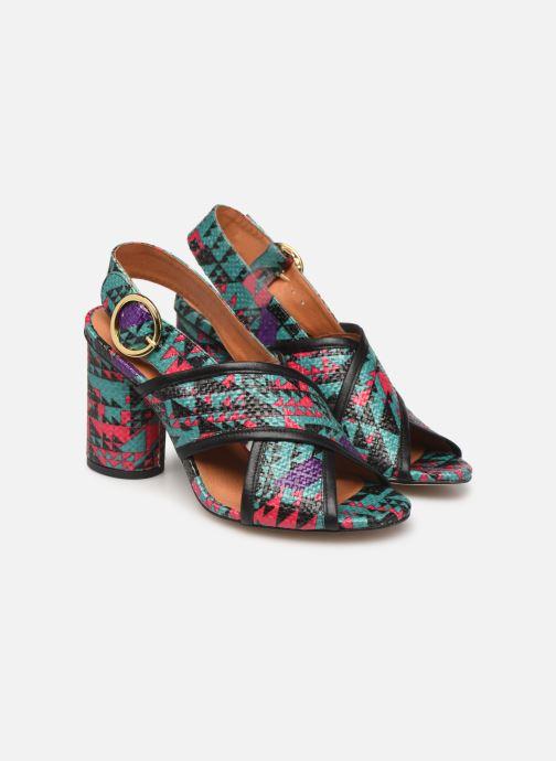 Sandales et nu-pieds Made by SARENZA Sport Party Sandales à Talons #6 Multicolore vue derrière