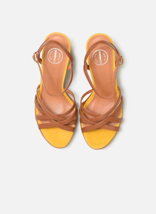 Sandales et nu-pieds Made by SARENZA UrbAfrican Sandales à Talons #8 Marron vue portées chaussures