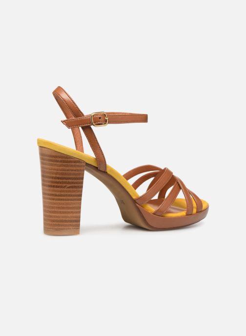 Sandales et nu-pieds Made by SARENZA UrbAfrican Sandales à Talons #8 Marron vue face