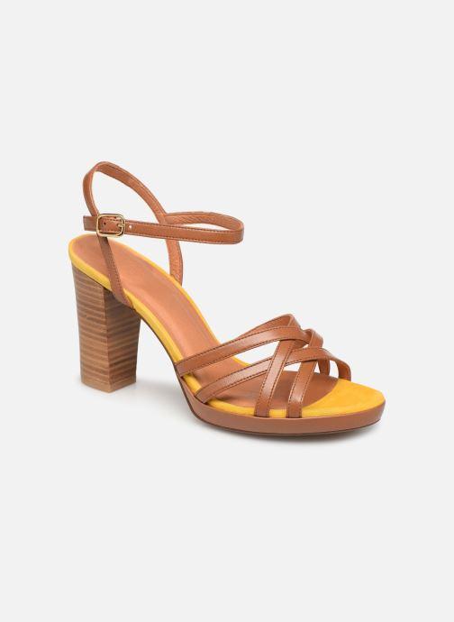 Sandales et nu-pieds Made by SARENZA UrbAfrican Sandales à Talons #8 Marron vue droite