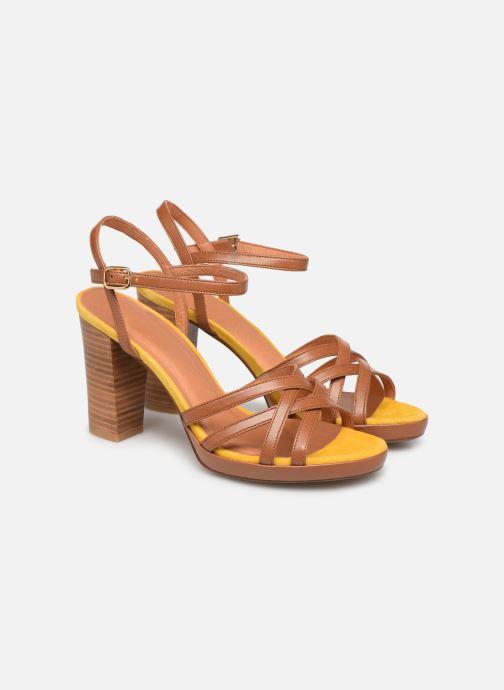 Sandales et nu-pieds Made by SARENZA UrbAfrican Sandales à Talons #8 Marron vue derrière