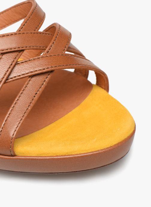 Sandales et nu-pieds Made by SARENZA UrbAfrican Sandales à Talons #8 Marron vue gauche