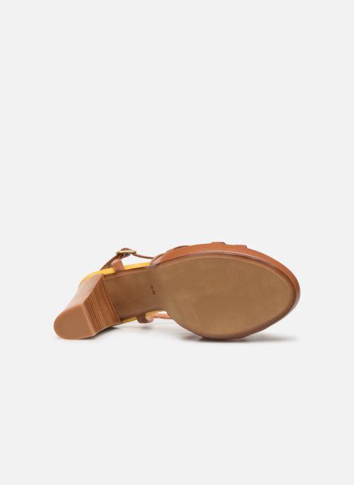 Sandales et nu-pieds Made by SARENZA UrbAfrican Sandales à Talons #8 Marron vue haut