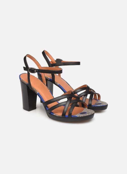 Sandales et nu-pieds Made by SARENZA UrbAfrican Sandales à Talons #8 Noir vue derrière
