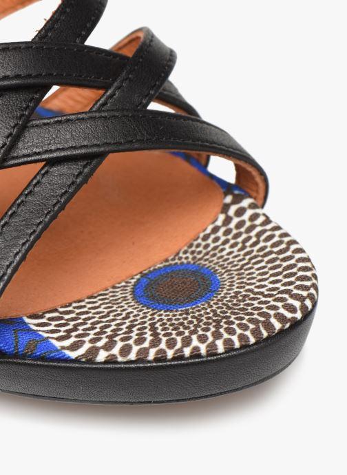 Sandalias Made by SARENZA UrbAfrican Sandales à Talons #8 Negro vista lateral izquierda