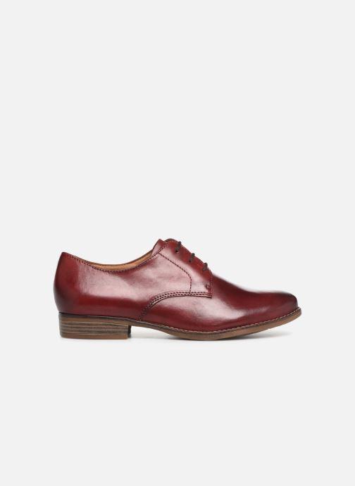 Lace-up shoes Tamaris Malika Burgundy back view