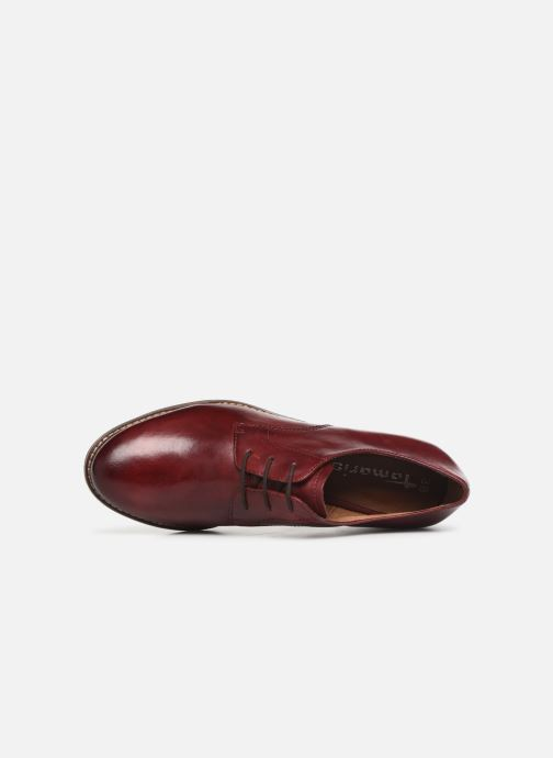 Lace-up shoes Tamaris Malika Burgundy view from the left