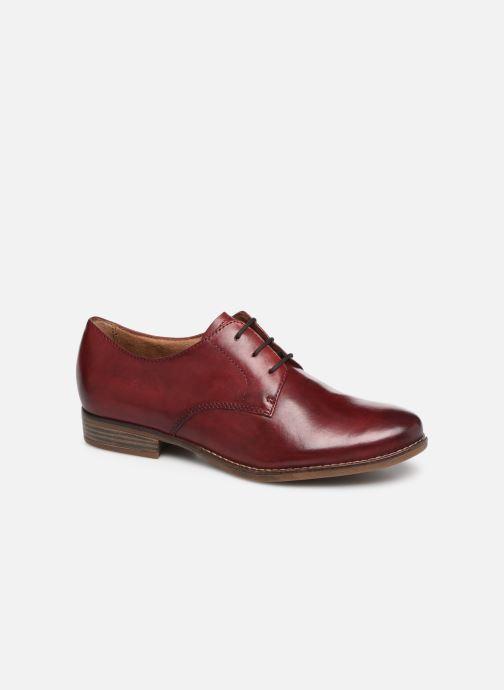 Lace-up shoes Tamaris Malika Burgundy detailed view/ Pair view