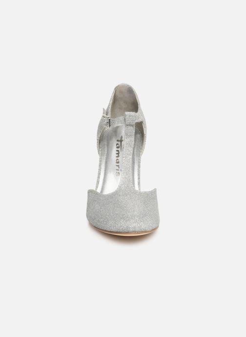Zapatos de tacón Tamaris Suri 1 Plateado vista del modelo