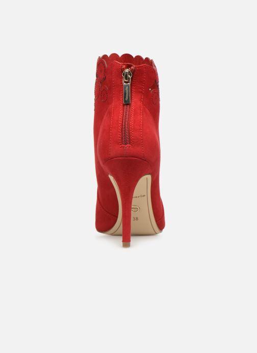 Bottines et boots Tamaris Idony Rouge vue droite