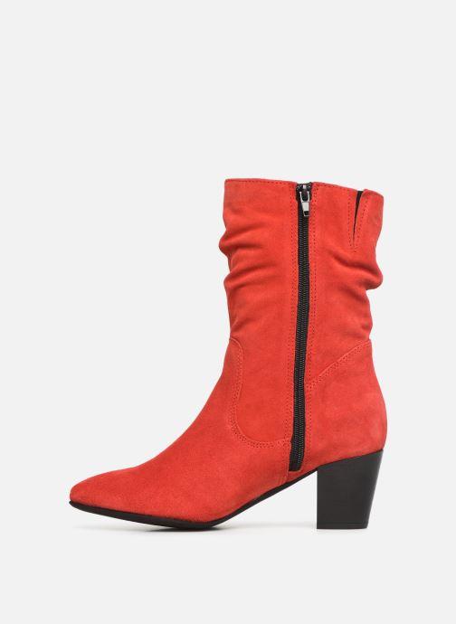 Bottines et boots Tamaris Juna Rouge vue face