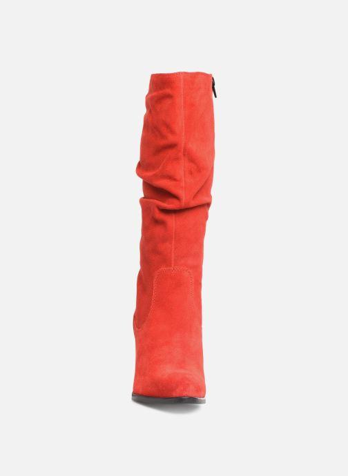 Bottes Tamaris Troia Rouge vue portées chaussures
