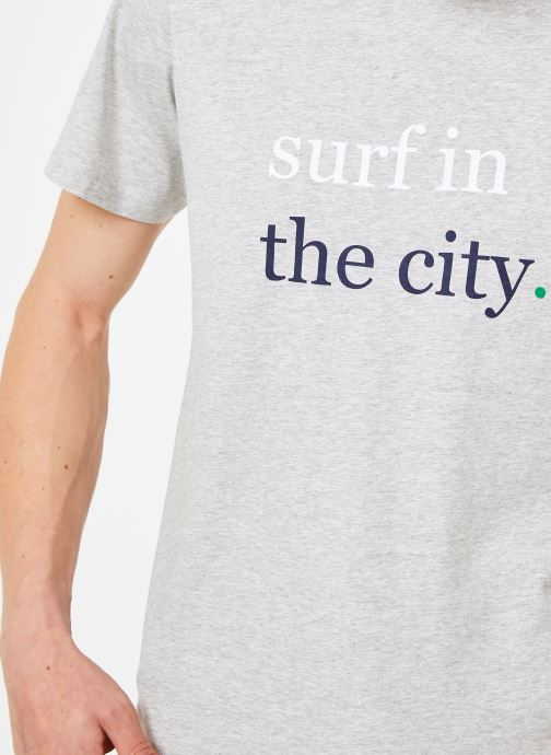 Vêtements Mr SARENZA Mr Sarenza x Cuisse de Grenouille Tee-shirt Surf Gris vue face