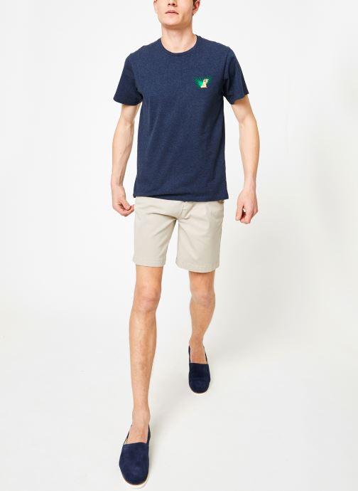 Vêtements Mr SARENZA Mr Sarenza x Cuisse de Grenouille Tee-shirt Vahinés Bleu vue bas / vue portée sac