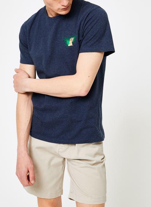 Vêtements Mr SARENZA Mr Sarenza x Cuisse de Grenouille Tee-shirt Vahinés Bleu vue droite