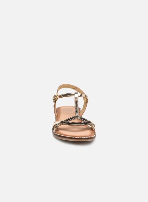 Sandalen Gioseppo 45635 gold/bronze schuhe getragen