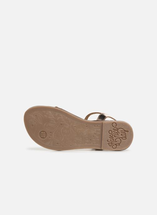 Sandals Gioseppo 45635 Bronze and Gold view from above
