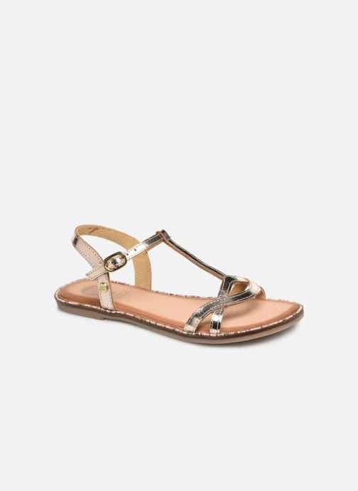Sandals Gioseppo 45635 Bronze and Gold detailed view/ Pair view