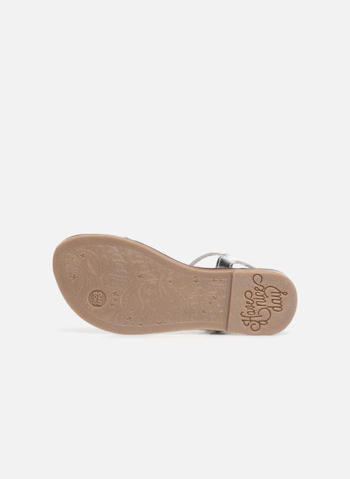 Sandales et nu-pieds Gioseppo 45635 Argent vue haut
