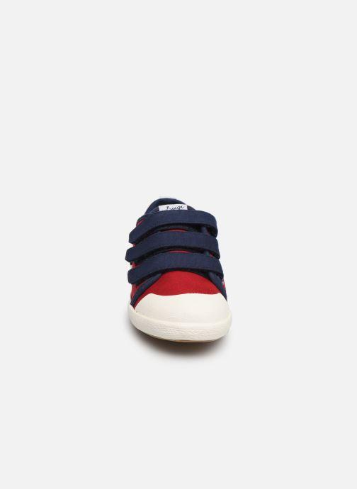 Baskets Faguo Tennis Sugiv Cotton Rouge vue portées chaussures