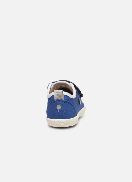 Baskets Faguo Tennis Sugiv Cotton Bleu vue droite