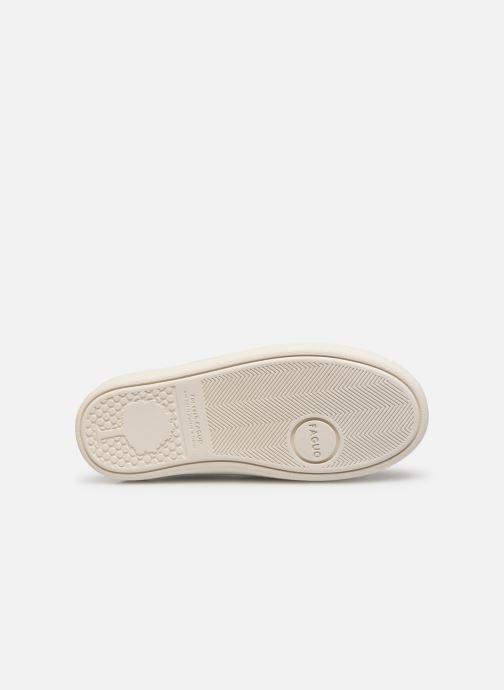 Sneakers Faguo Tennis Hostav Lea Wit boven