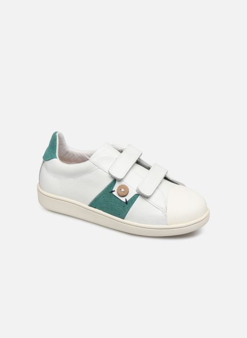 Trainers Faguo Tennis Hostav Lea White detailed view/ Pair view