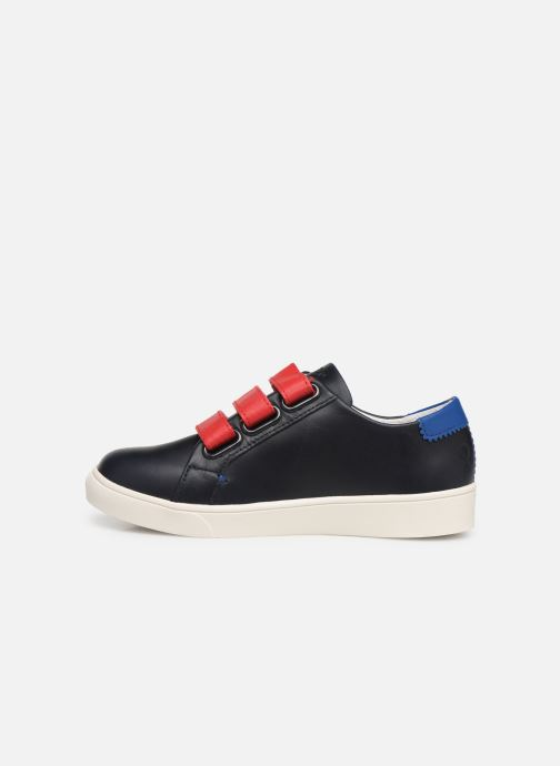 Trainers Faguo Tennis Aspenlowv Leather Blue front view