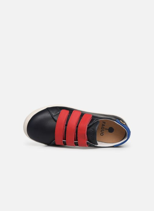 Trainers Faguo Tennis Aspenlowv Leather Blue view from the left