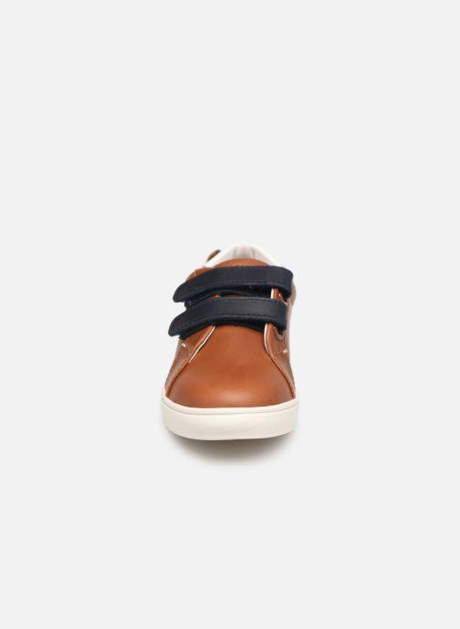 Baskets Faguo Tennis Aspenlowv Leather Marron vue portées chaussures