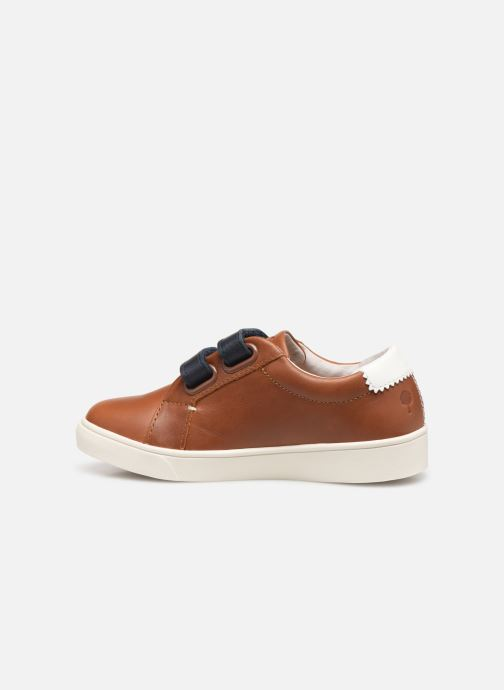 Trainers Faguo Tennis Aspenlowv Leather Brown front view