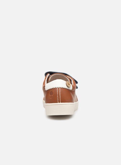 Baskets Faguo Tennis Aspenlowv Leather Marron vue droite