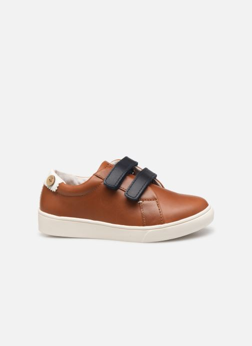 Sneakers Faguo Tennis Aspenlowv Leather Bruin achterkant