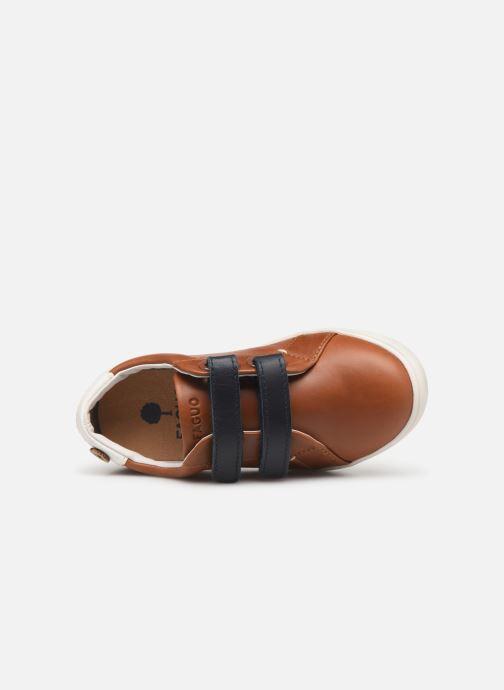 Sneakers Faguo Tennis Aspenlowv Leather Marrone immagine sinistra