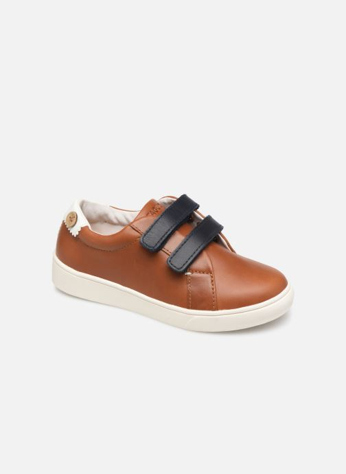 Trainers Faguo Tennis Aspenlowv Leather Brown detailed view/ Pair view