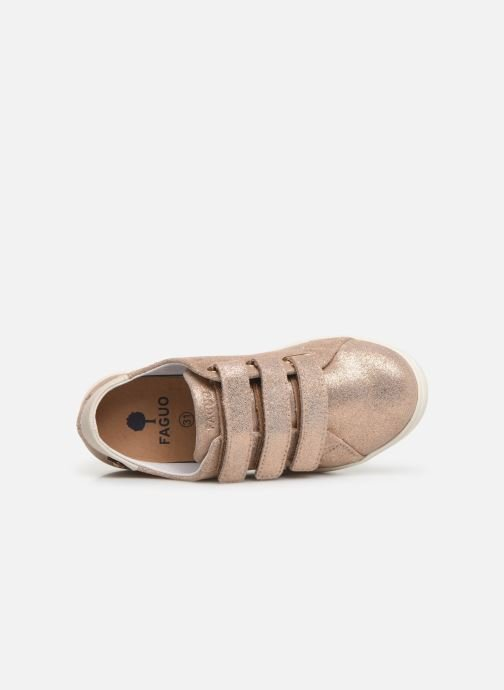 Sneakers Faguo Tennis Aspenlowv Leather Goud en brons links