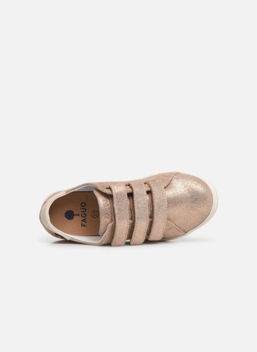 Baskets Faguo Tennis Aspenlowv Leather Or et bronze vue gauche