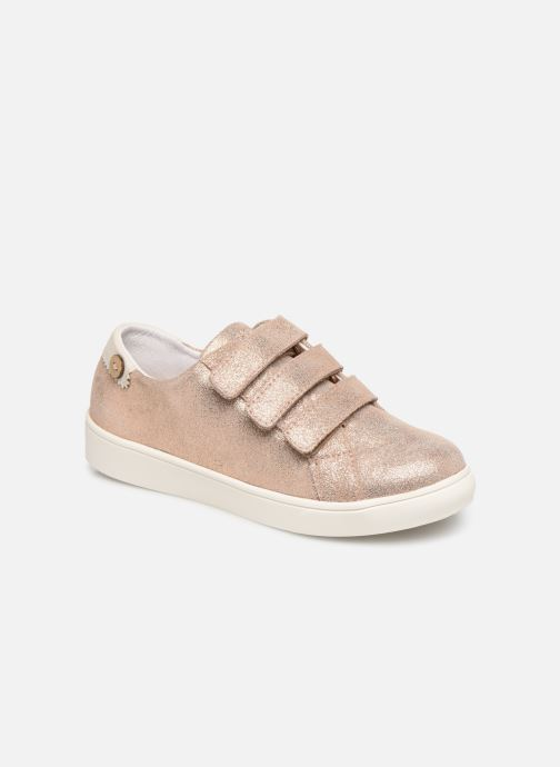 Sneakers Faguo Tennis Aspenlowv Leather Goud en brons detail