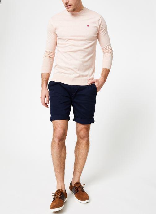 Vêtements Scotch & Soda Classic crewneck pull in cotton melange quality Rose vue bas / vue portée sac