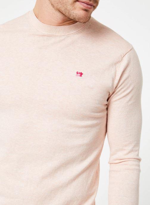 Vêtements Scotch & Soda Classic crewneck pull in cotton melange quality Rose vue face