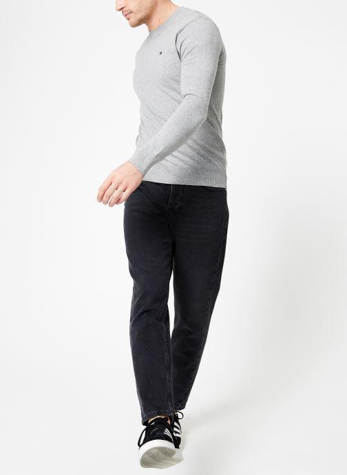 Vêtements Scotch & Soda Classic crewneck pull in cotton melange quality Gris vue bas / vue portée sac