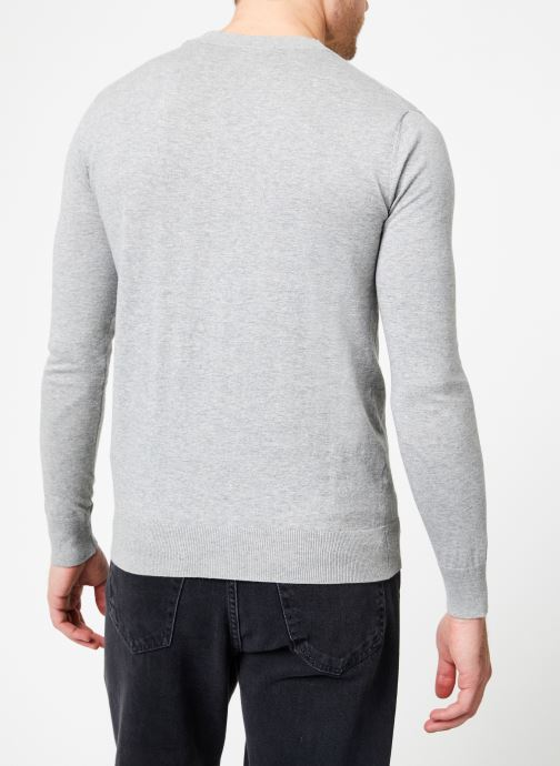 Kleding Scotch & Soda Classic crewneck pull in cotton melange quality Grijs model
