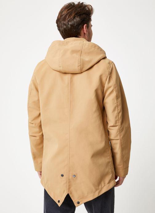 Vêtements Scotch & Soda Classic parka jacket in bonded quality Beige vue portées chaussures