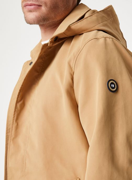 Vêtements Scotch & Soda Classic parka jacket in bonded quality Beige vue face