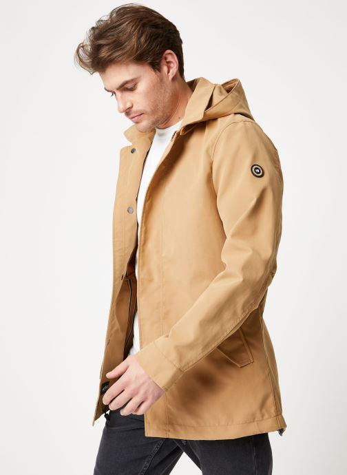 Vêtements Scotch & Soda Classic parka jacket in bonded quality Beige vue droite