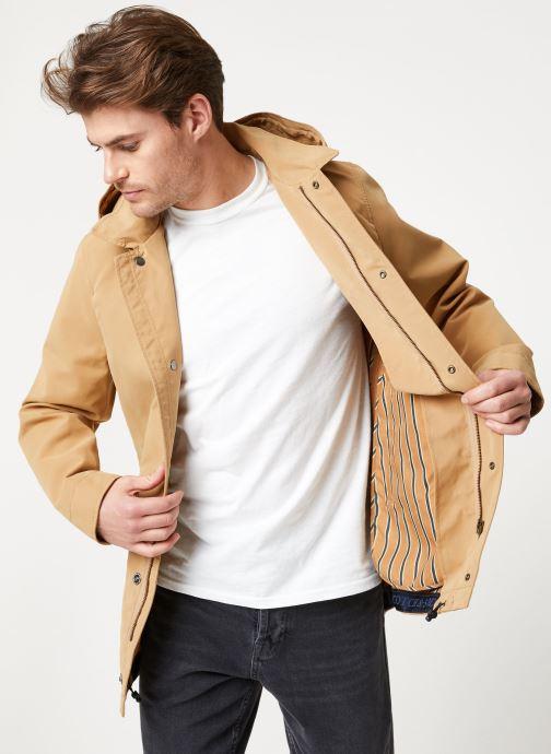 Vêtements Scotch & Soda Classic parka jacket in bonded quality Beige vue détail/paire