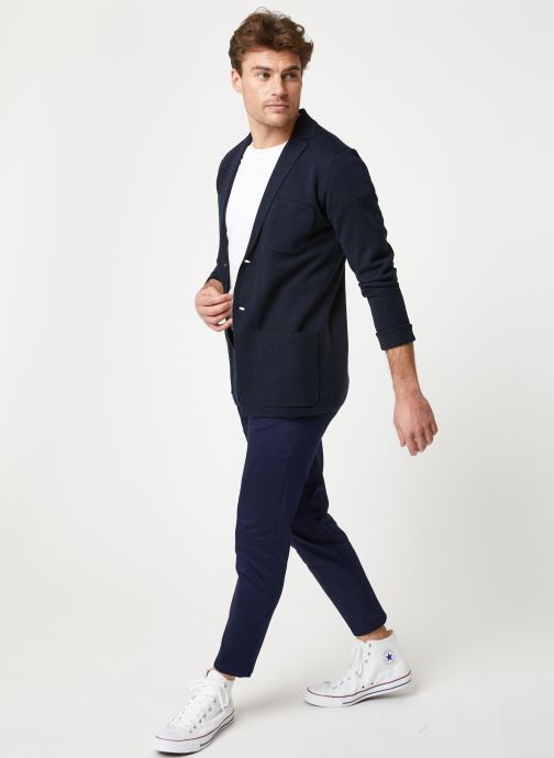Vêtements Scotch & Soda Chic summer blazer cardigan in wool -blend Bleu vue bas / vue portée sac